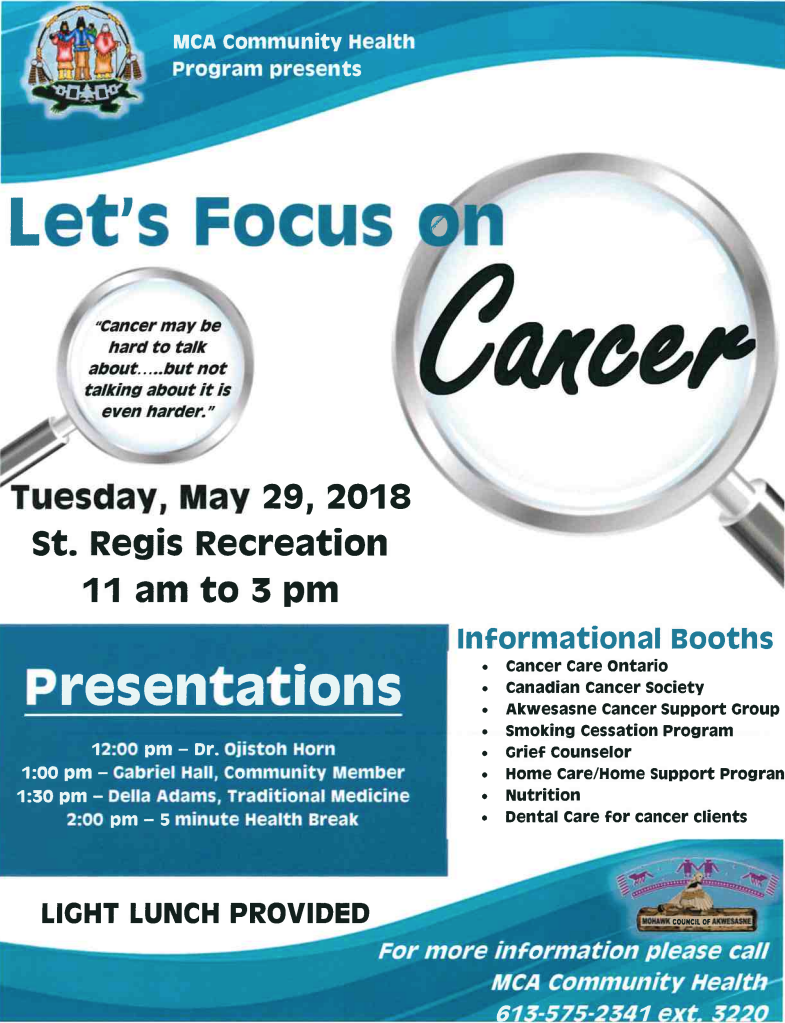 LET'S FOCUS ON CANCER @ Kana:takon Recreation Centre