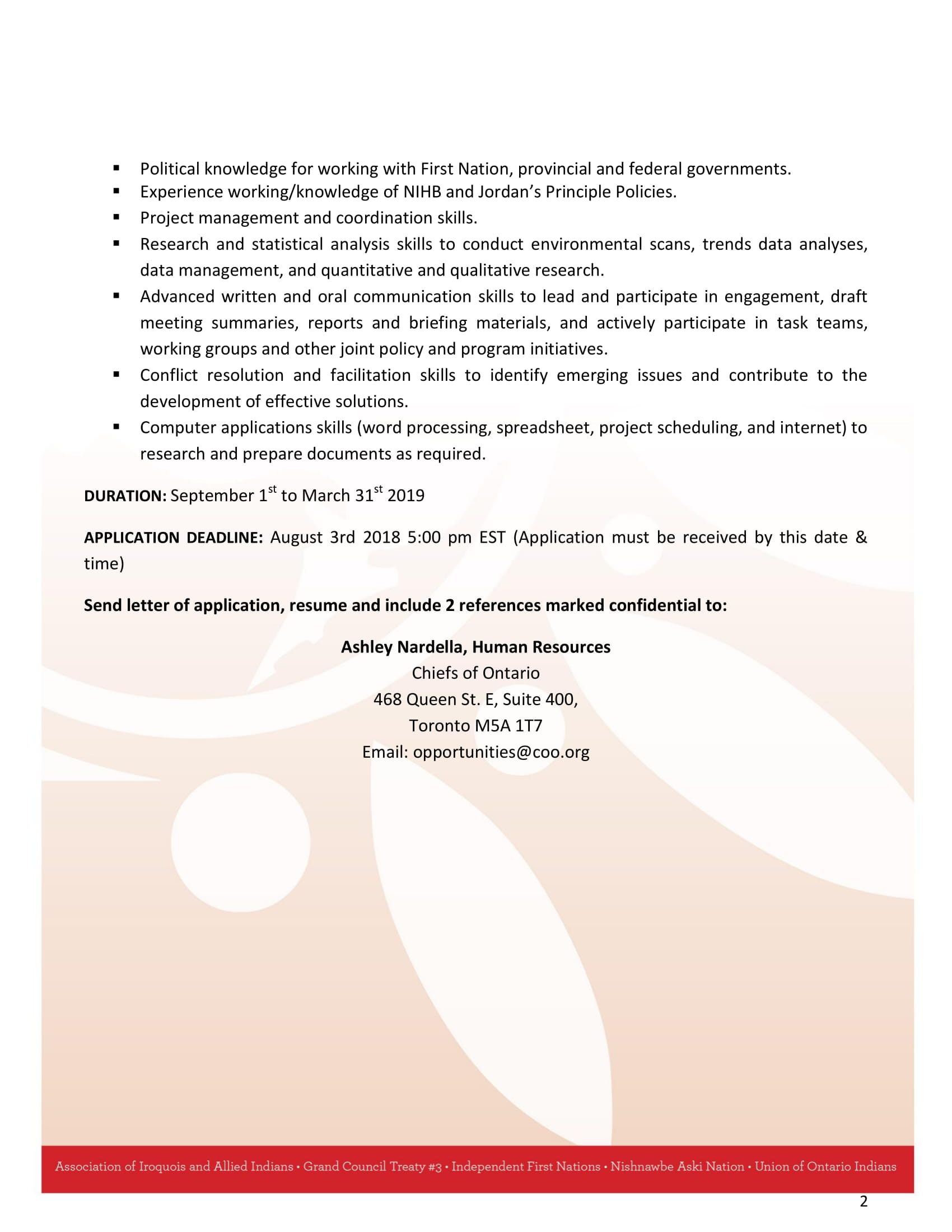 Employment Opportunity ‒ Health Policy Analyst – Mohawk Council Of ...
