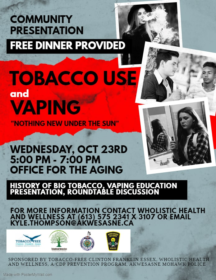 Tobacco Use & Vaping Presentation @ SRMT Office for the Aging