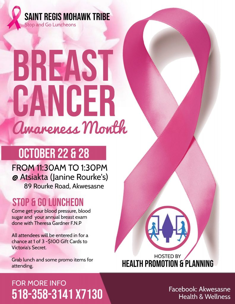Breast Cancer Awareness Month Stop & Go Luncheon @ Atsiakta - By the River