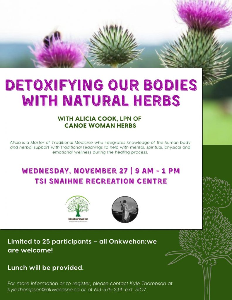 Detoxifying Our Bodies with Natural Herbs @ Tsi Snaihne Recreation Centre