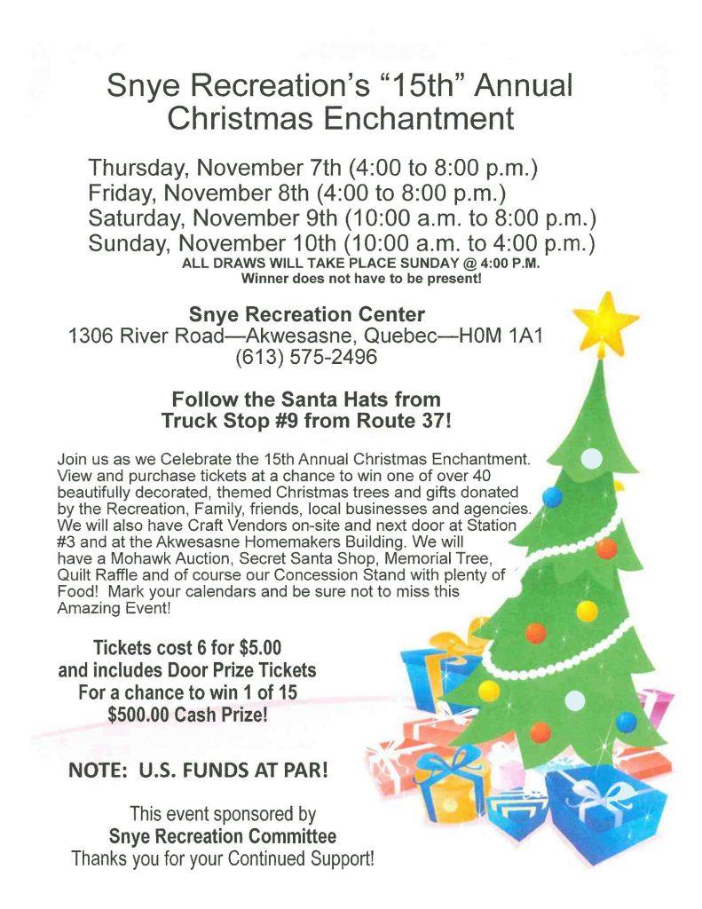 Christmas Craft Event Ontario Ambulance 2020 CHRISTMAS ENCHANTMENT 2019 – Mohawk Council of Akwesasne