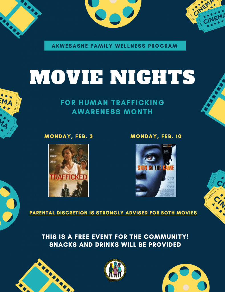 Movie Night for Human Trafficking Awareness Month @ A'nowara'ko:wa Arena